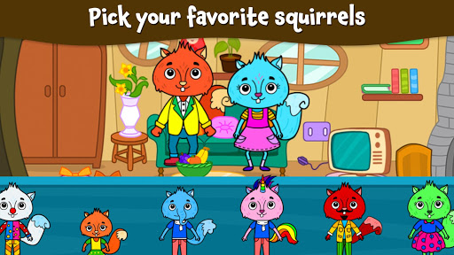 Animal Town - My Squirrel Home for Kids & Toddlers  Screenshots 6
