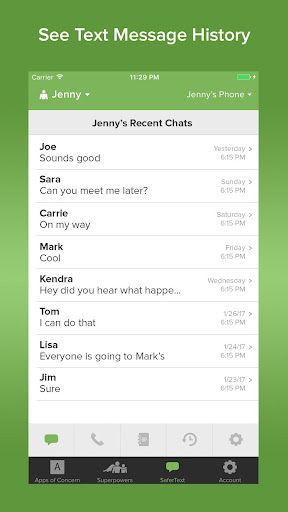 Text Monitoring Parental Control App: SaferKid 1.0.41 Screenshots 1