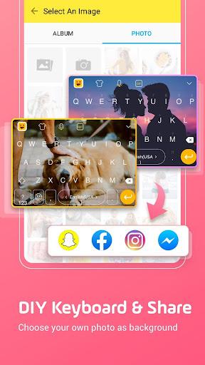 Facemoji Emoji Keyboard Lite: Emoji,DIY Theme,GIF 2.5.3.1 Screenshots 1