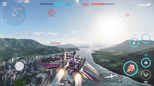 Sky Combat: Avions De Guerre APK MOD (Astuce) screenshots 5