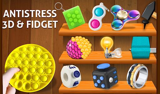 Anti stress fidgets 3D cubes - calming games  screenshots 9