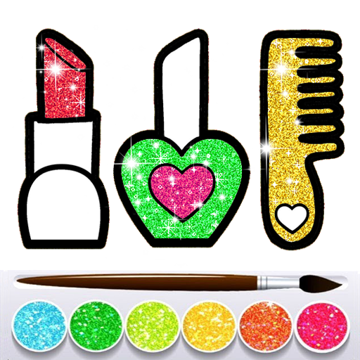 Glitter Beauty Accessories Coloring and drawing