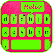 Fluorescent Chat Keyboard Background