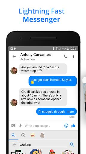 Messenger Go for Social Media, Messages, Feed 3.20.5 Screenshots 2