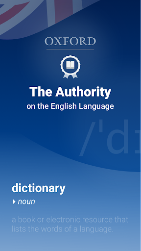 Oxford Dictionary of English screen 0