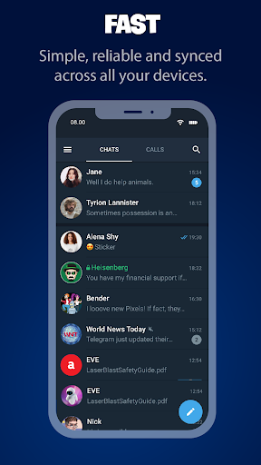 Tele Messenger Chats & Calls Free modavailable screenshots 2