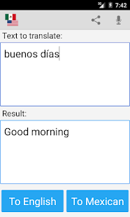 Mexican English Translator Screenshot