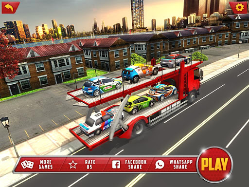 Vehicle Transporter Trailer Truck Game  screenshots 8