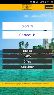 "Bank of Ceylon Mobile Banking""B app"" Mobile Application 1"