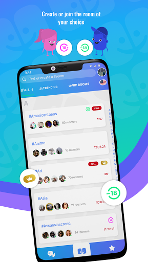 Roomco: chat rooms, date, fun 2.7.6 screenshots 1
