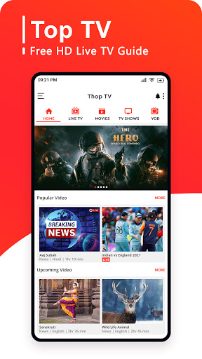 Top TV Guide - Free Live Cricket TV 2021 screen 0