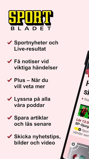 Sportbladet - Sveriges ledande sportbevakning  screenshots 1
