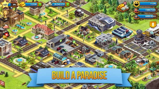 Tropic Paradise Sim: Town Building Game Screenshot