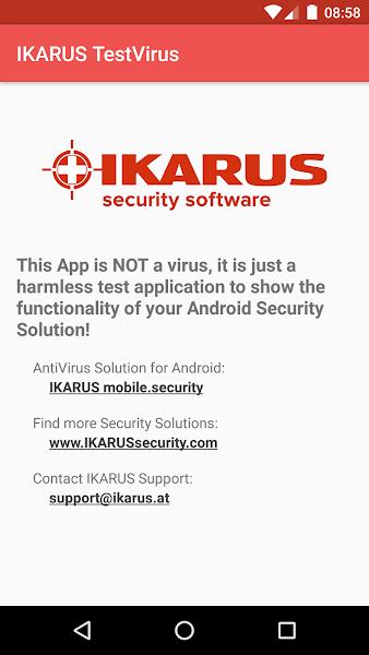 IKARUS TestVirus