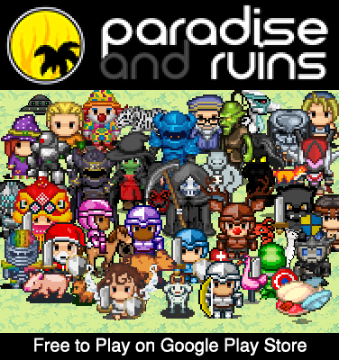 Paradise and Ruins 2D MMORPG MMO RPG Online modiapk screenshots 1