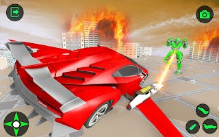 Flying Car Games - Super Robot Transformation Game