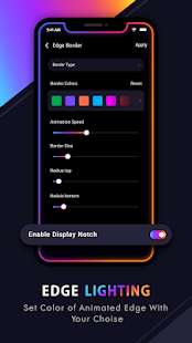 Edge Lighting Colors - Rounded colors borders