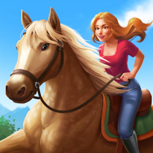 Horse Riding Tales Ride With Friends 862 by Foxie Ventures logo