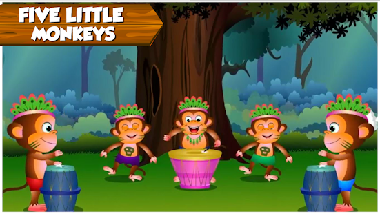 Kids Top Nursery Rhymes Videos - Offline Learning FiveLittle_v7.1 Screenshots 3