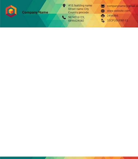 Letterhead Maker Business letter pad template Logo 1.7 Screenshots 7