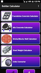 Builder Calculator - Concrete Volume Calculator