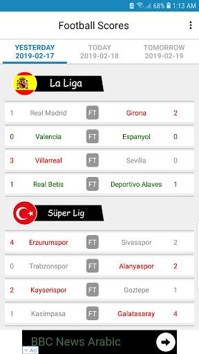 Live Football Scores 3.3.1 screenshots 1