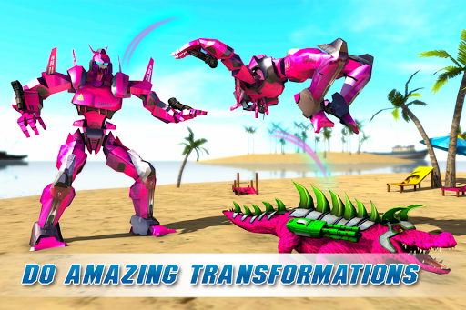Real Robot Crocodile Simulator- Robot transform 1.0.12 screenshots 2