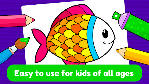 Learning & Coloring Game for Kids & Preschoolers  screenshots 1