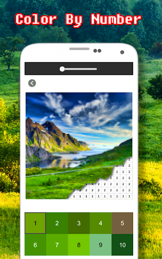 Landscape Coloring Book - Color By Number  screenshots 3