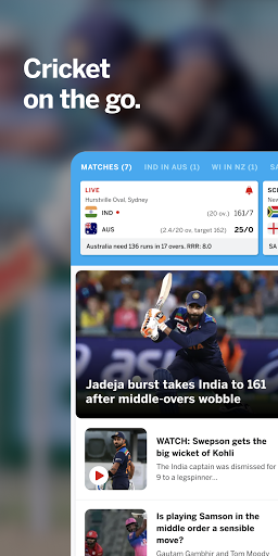 ESPNCricinfo - Live Cricket Scores, News & Videos 7.0 Screenshots 1