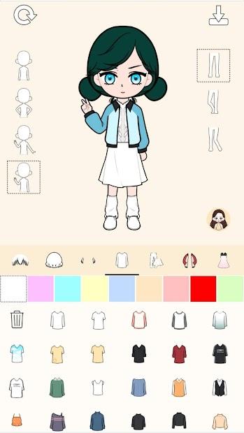 Captura de Pantalla 5 de My Webtoon Character Girls - K-pop IDOL Maker para android
