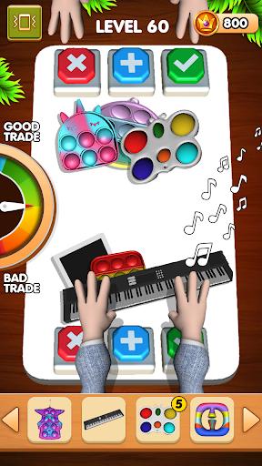 Pop It Sensory Fidget Cube Toys Soulagement  3D APK MOD (Astuce) screenshots 5