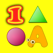 Letters Numbers Colors Shapes Flashcards for kids
