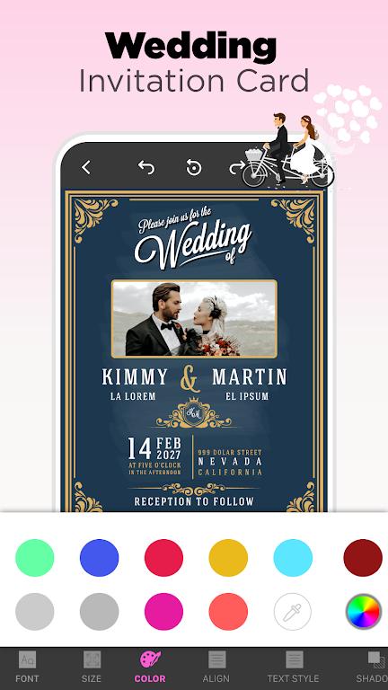 Invitation Maker - Birthday & Wedding Card Design poster 10