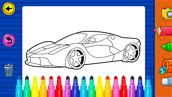 Learn Coloring & Drawing Car Games for Kids 11.0 screenshots 1