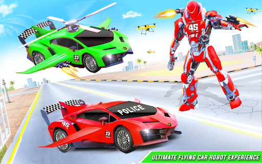 Flying Police Helicopter Car Transform Robot Games 30 Screenshots 10
