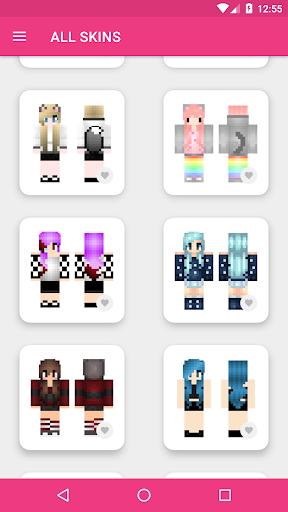 Girls Skins for Minecraft PE 3.4.3 Screenshots 14