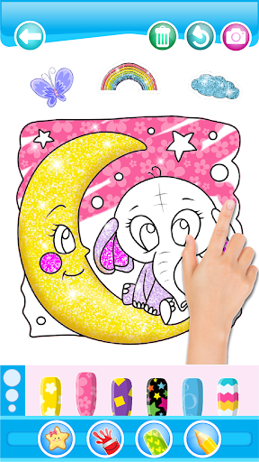 Glitter Number and letters coloring Book for kids 3.8 Screenshots 6