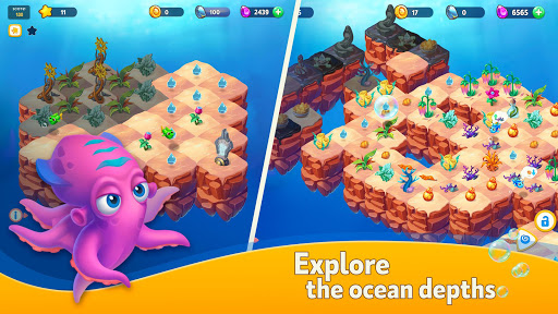 Sea Merge! Fish Aquarium Game & Ocean Puzzle screenshots 1