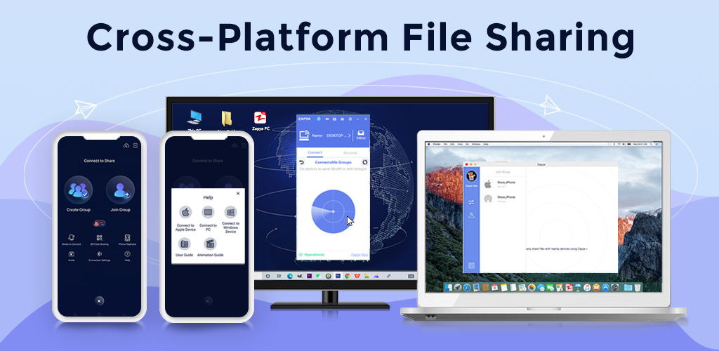 Zapya - File Transfer, Share Apps & Music Playlist poster 0