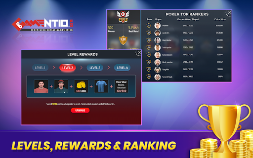 Gamentio 3D: Poker Teenpatti Rummy Slots +More  screenshots 21