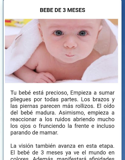 desarrollo y cuidado de bebes mes a mes concejos 3.2 Screenshots 2