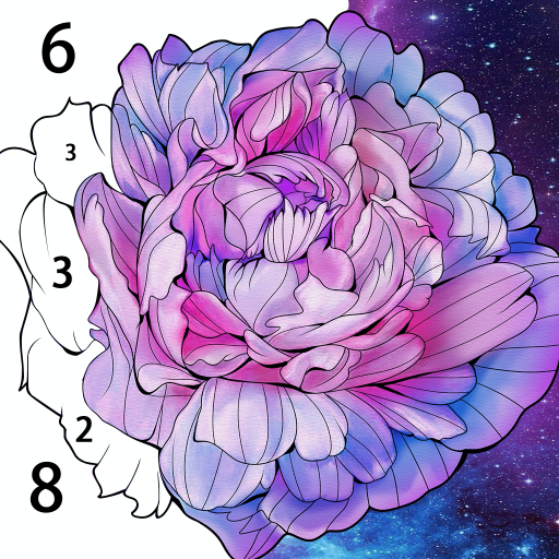 Flora Coloring: Color by Number Painting Game