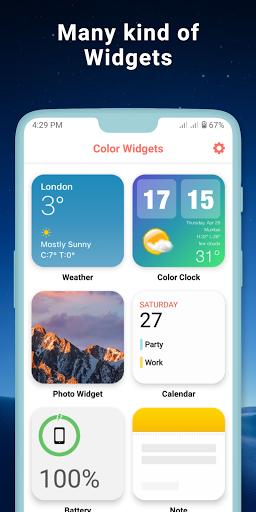 Widgets iOS 14 - Color Widgets modavailable screenshots 23