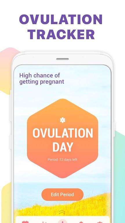 Period Tracker, Ovulation Calendar & Fertility app  poster 2