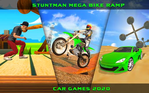Stuntman Mega Bike Ramp Car Game Screenshot 1