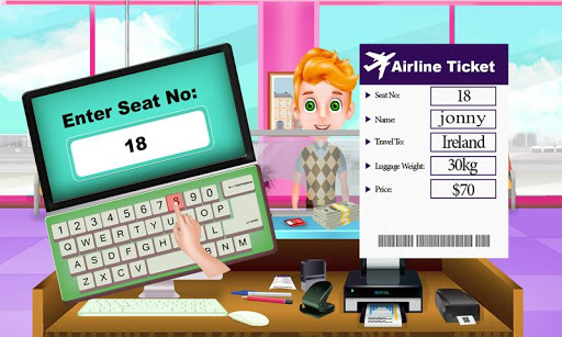 Summer Vacation Airport Trip: Flight Attendant androidhappy screenshots 2