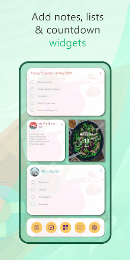 Wondr Note - Cute Notes, Lists, Countdown & more android2mod screenshots 5