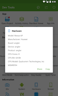 Dev Tools(Android Developer Tools) - Device Info Screenshot