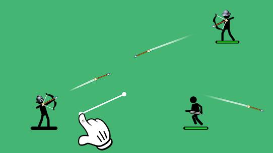 Okçular 2  2 oyuncu veya 1 için Çöp Adam Oyunları Apk 2021 4